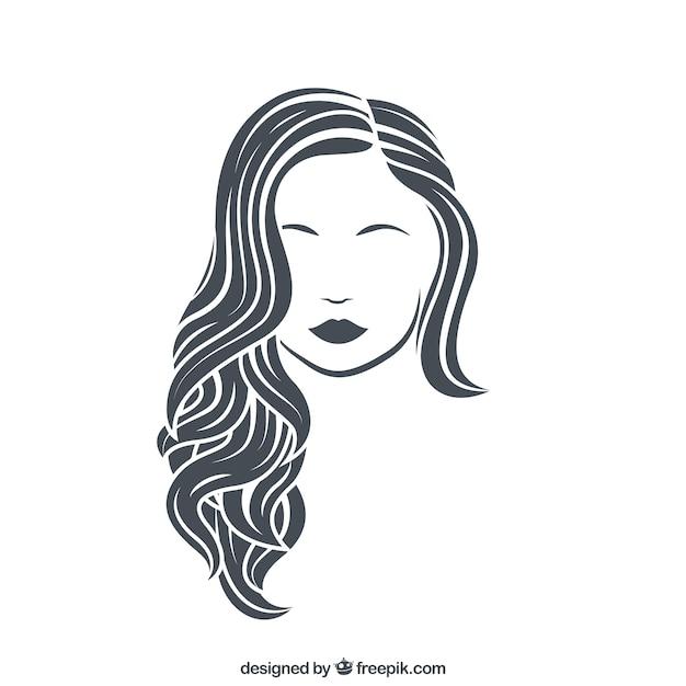 Rasgos de mujer Vector Premium