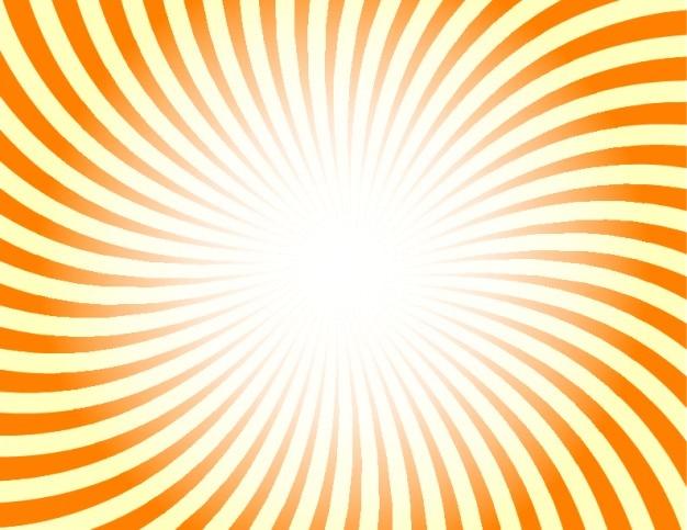 Rayos De Sol Vector: Rayos De Sol Retro En Color Naranja Y Amarillo