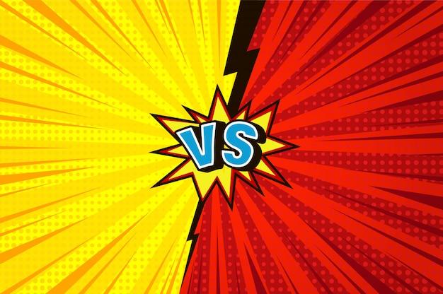 Rayos y medios tonos versus fondo vector gratuito
