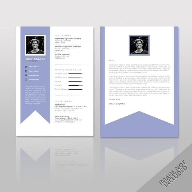 Reanudar Robert McLaren A4 dos páginas | Descargar Vectores Premium