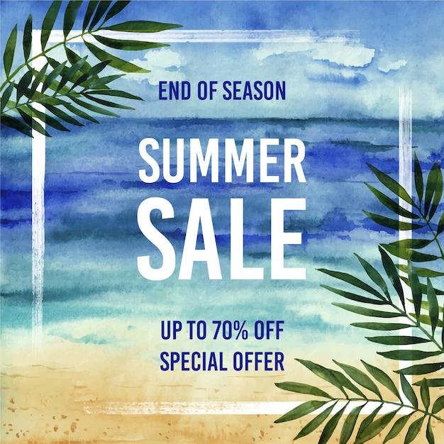 Rebajas de verano de fin de temporada vector gratuito