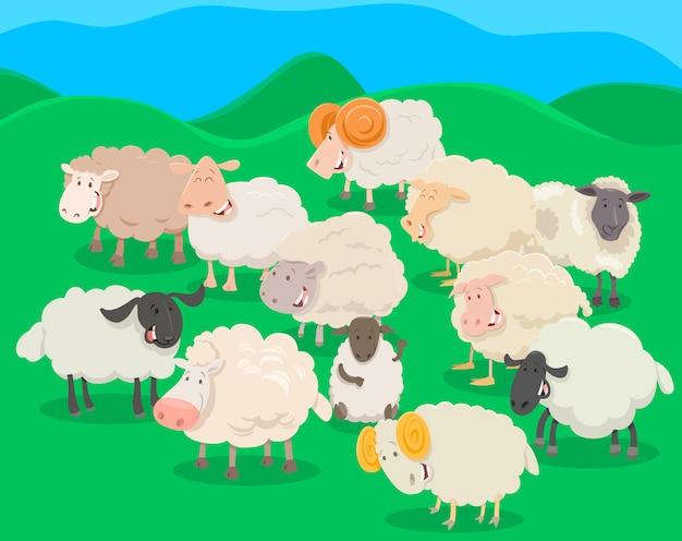 Resultado de imagen de rebaño de ovejas dibujo