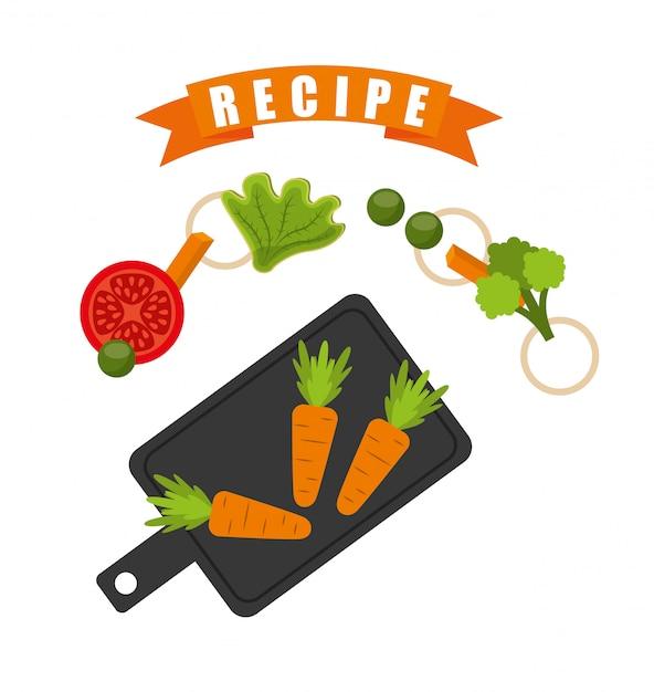 Receta de cocina vector gratuito
