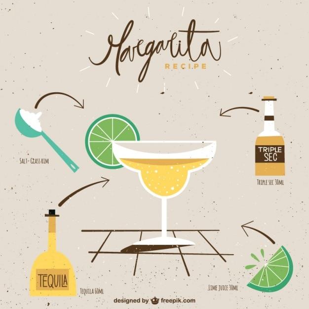 Receta de margarita descargar vectores gratis for Preparacion de margaritas