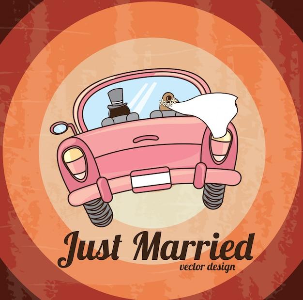 Recién casados Vector Premium