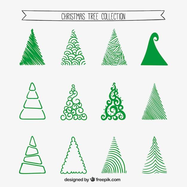 recogida de rboles de navidad estilizada