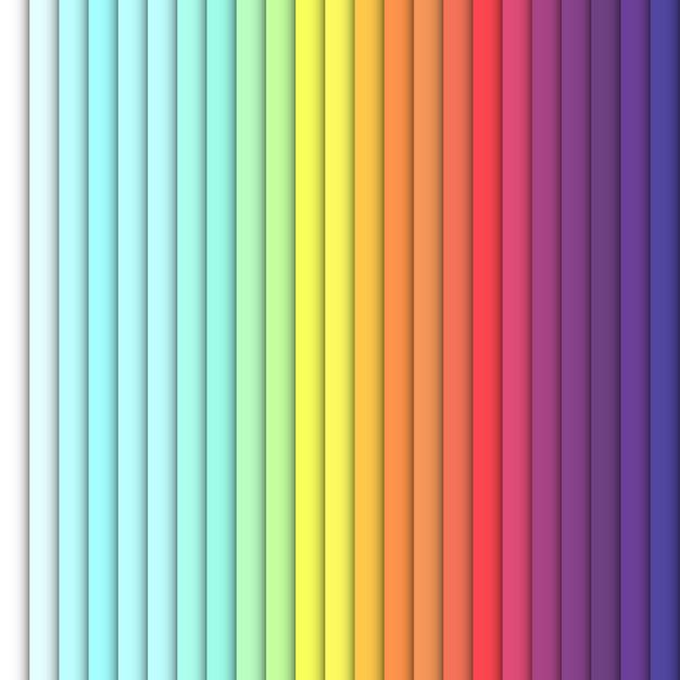 Rectángulos verticales de color brillante Vector Premium