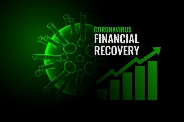 Recuperación económica del coronavirus después de la cura de la enfermedad vector gratuito