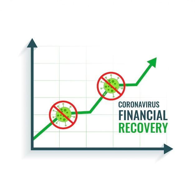 Recuperación financiera empresarial después de detener el coronavirus vector gratuito