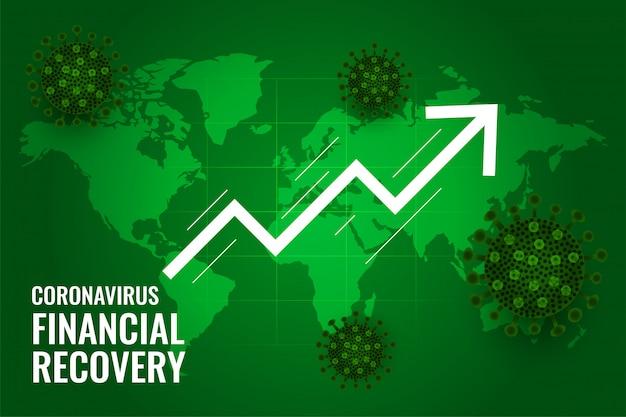 Recuperación financiera global del mercado después de la cura del coronavirus vector gratuito
