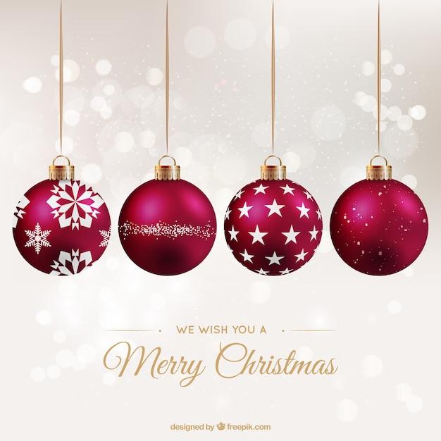 Red bolas de navidad de fondo descargar vectores gratis - Bolas gigantes de navidad ...