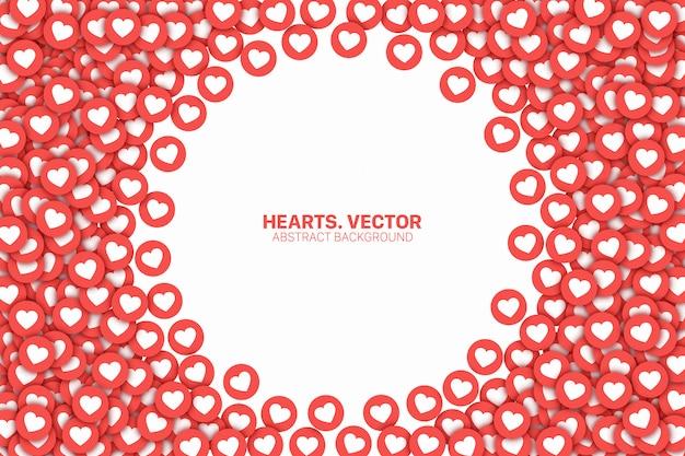 Red de medios sociales le gusta la ilustración abstracta conceptual Vector Premium