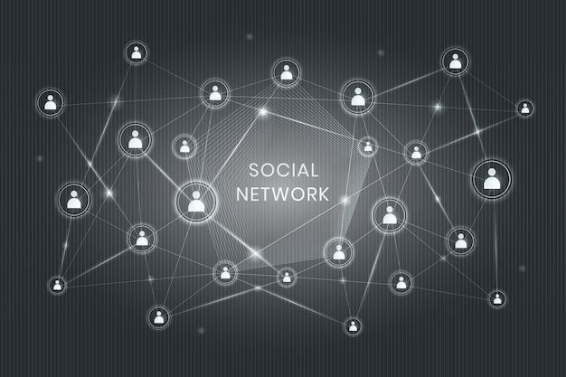 Red social descentralizada vector gratuito