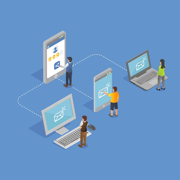 Redes isométricas a través de dispositivos Vector Premium