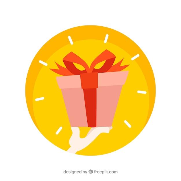 Regalo en estilo dibujo animado descargar vectores gratis for In regalo gratis