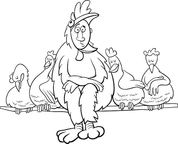 Regla del gallinero diciendo para colorear colorear | Descargar ...