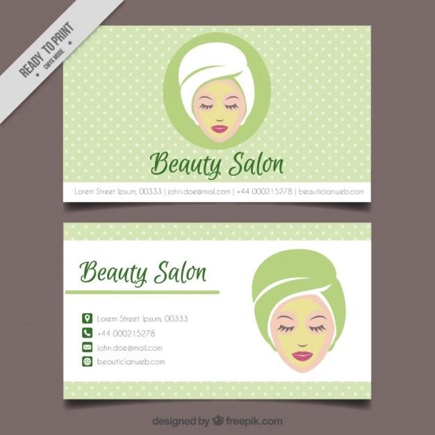 Relajado mujer del salón de belleza salpicado tarjeta | Descargar ...