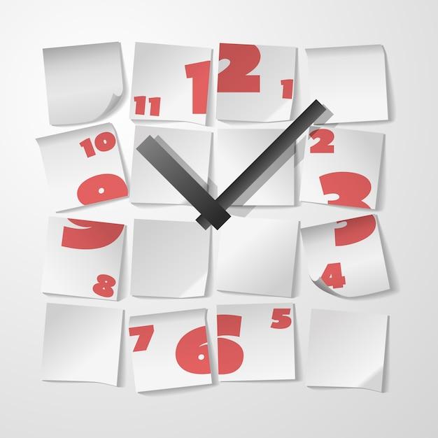 Reloj creativo con dígitos. vector gratuito