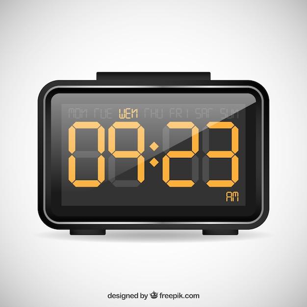 Reloj despertador digital descargar vectores premium for Reloj digital de mesa