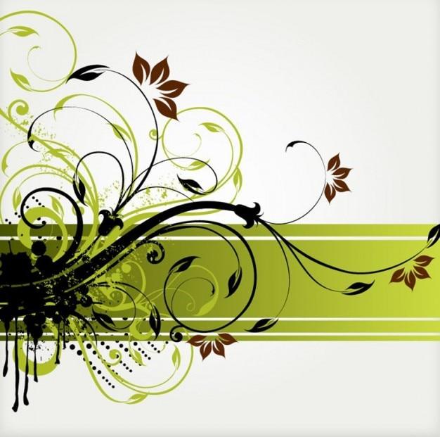 remolino florales de vectores de fondo | Descargar Vectores gratis
