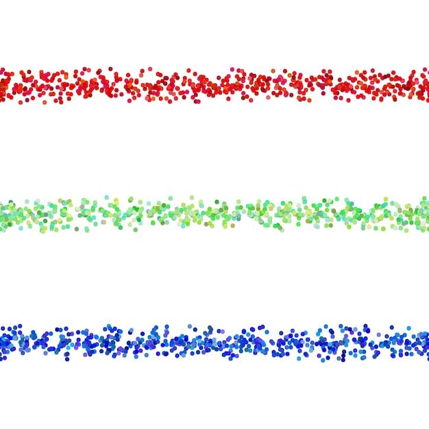 Repitiendo el patrón de puntos párrafo dividir la línea de diseño conjunto - elementos vectoriales de círculos de color con efecto de sombra vector gratuito