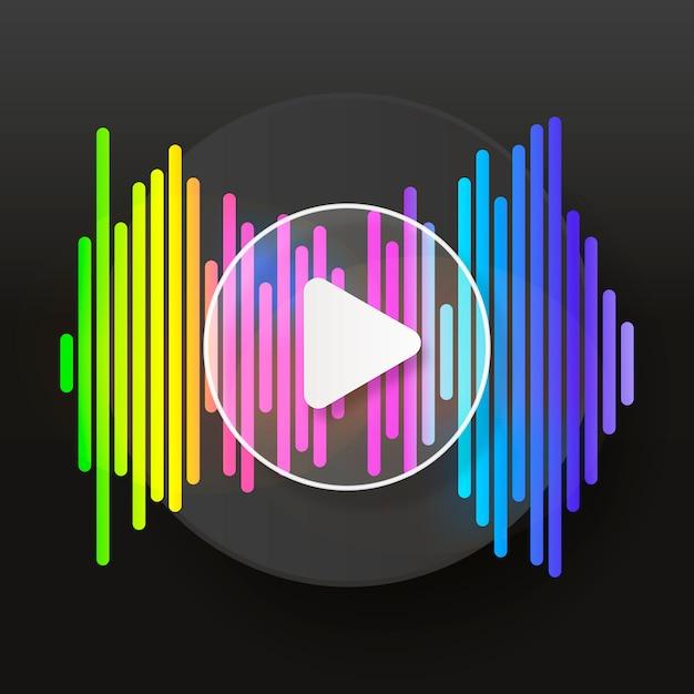 Reproductor de musica de pulso Vector Premium
