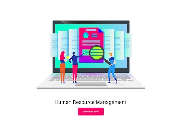 Requisito De Recursos Humanos Dibujos Animados Plana Descargar