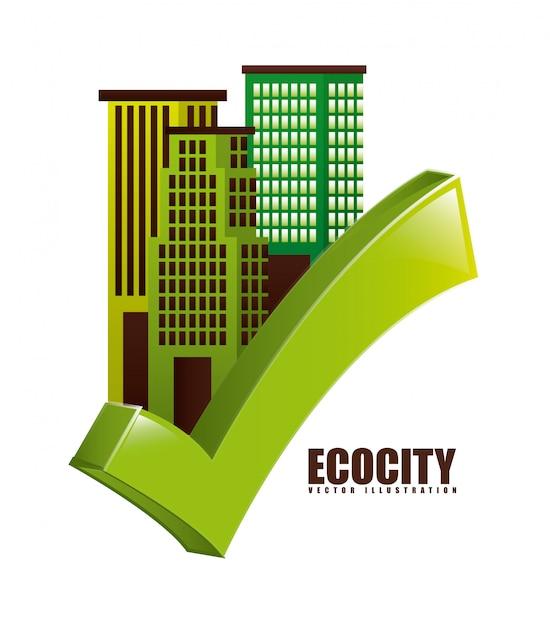 Respetuoso del medio ambiente Vector Premium