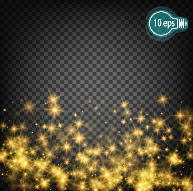 Resplandor cósmico estrella de navidad ktor Vector Premium