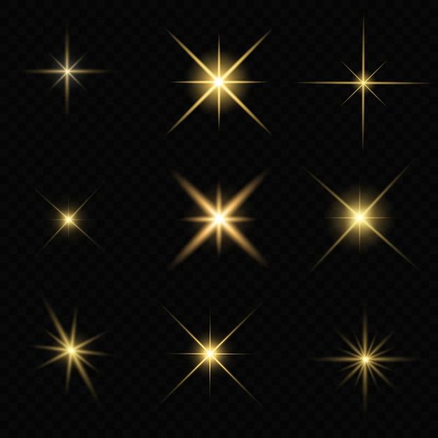 Resplandor estrella brillante Vector Premium