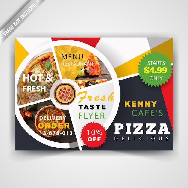 Restaurante maqueta volante horizontal vector gratuito