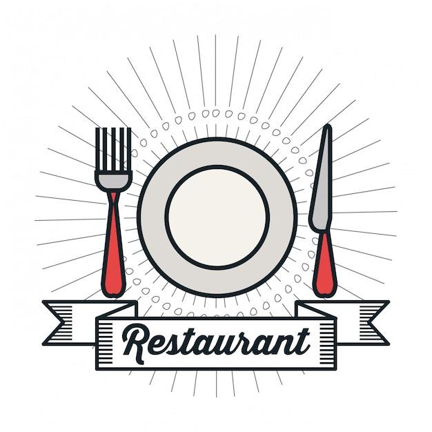 Restaurante menú de comida diseño Vector Premium