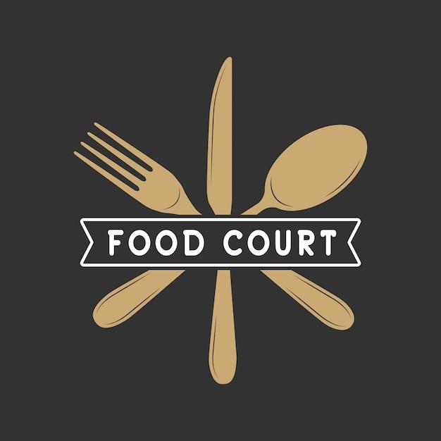 Restaurante o logo de comida Vector Premium