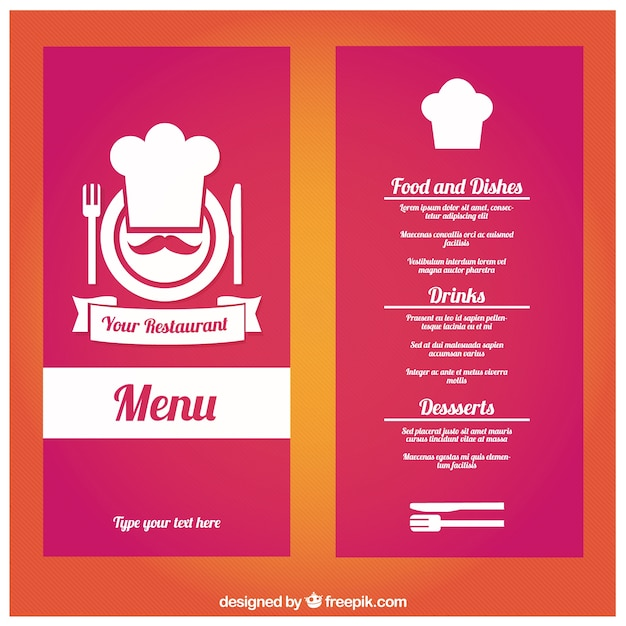 Restaurante plantilla de menú | Descargar Vectores gratis