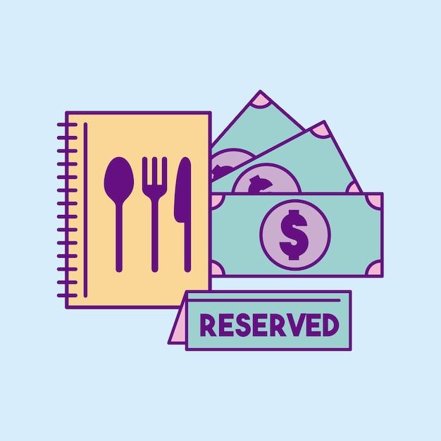 Restaurante reservado comida | Descargar Vectores Premium