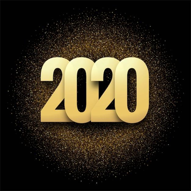 Resumen 2020 año nuevo fondo de la tarjeta de felicitación vector gratuito
