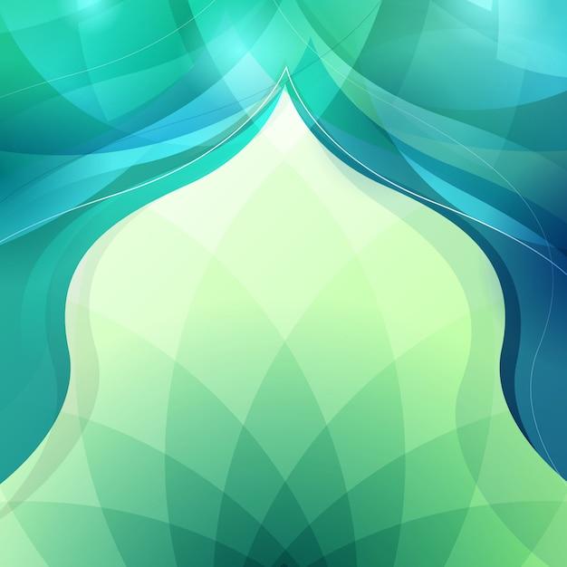 Resumen de antecedentes para el diseño de saludo islámico Vector Premium