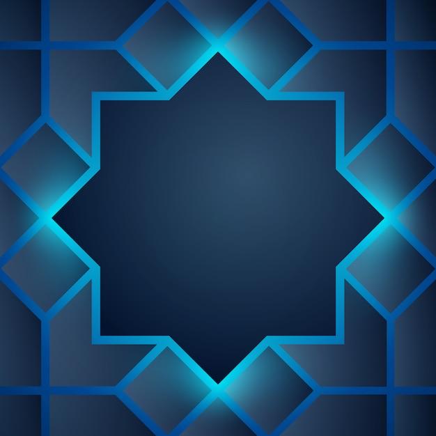 Resumen de antecedentes resplandor árabe geométrico Vector Premium