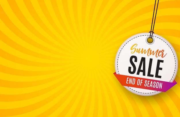 Resumen antecedentes de venta de verano. Vector Premium