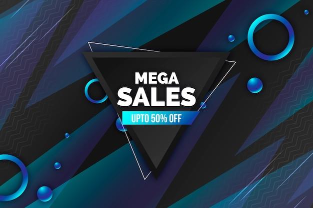 Resumen antecedentes de ventas oscuras con diferentes formas vector gratuito