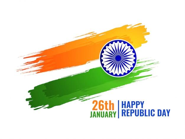 Resumen bandera tricolor de fondo indio vector gratuito