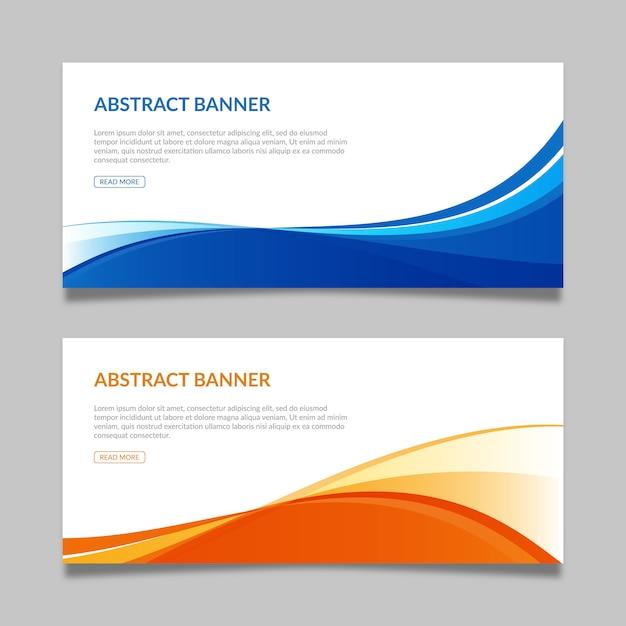 Resumen banners plantillas Vector Premium