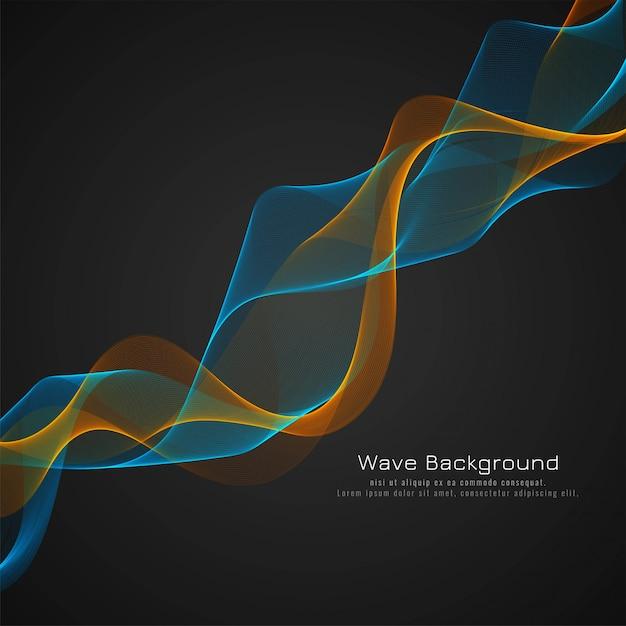 Resumen brillante colorido de la onda fondo oscuro vector gratuito