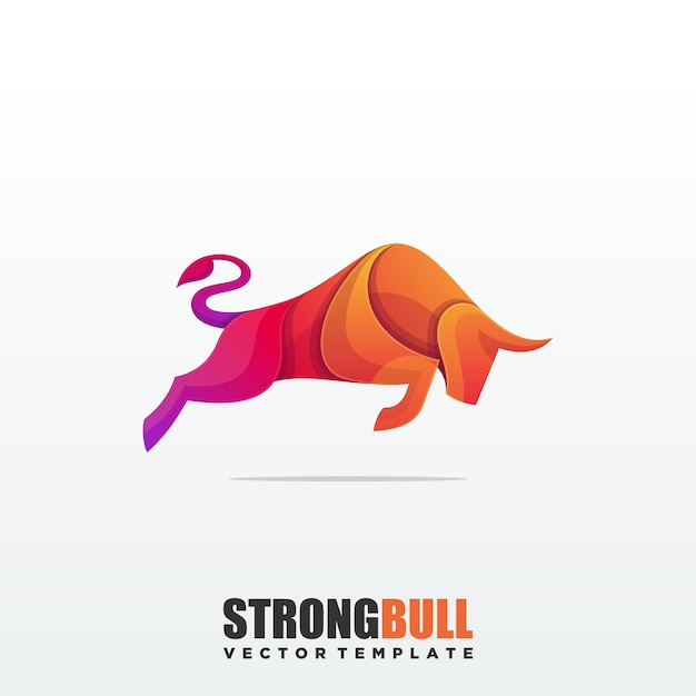 Resumen bull colorido vector premium plantilla Vector Premium