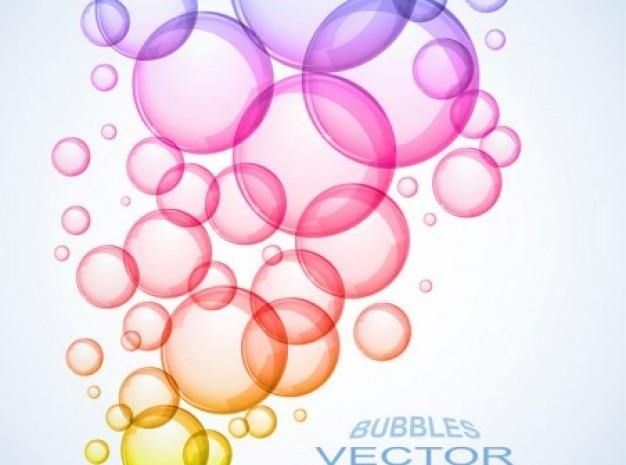 Resumen Burbujas De Colores Fondo Conjunto De Vectores