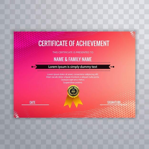 Resumen certificado creativo de la plantilla de premio de ...