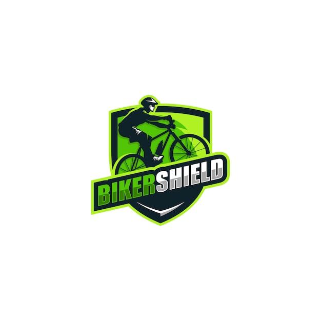 Resumen concepto bikers ilustración vectorial plantilla de diseño Vector Premium