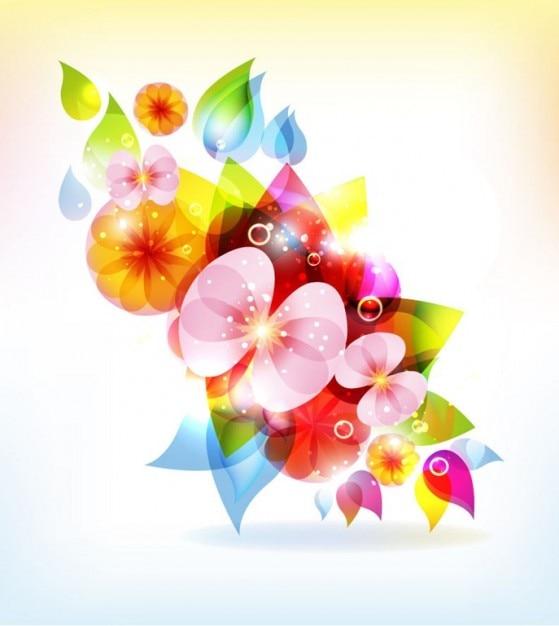 resumen de flores de colores de fondo vector   Descargar Vectores ...