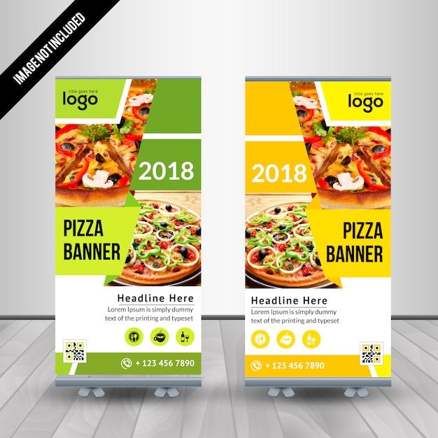 Resumen de pizza Roll Up Vector plantilla de diseño para restaurante ...