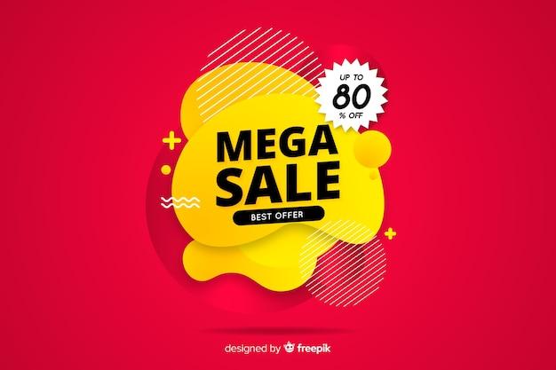 Resumen diseño plano mega fondo de ventas vector gratuito